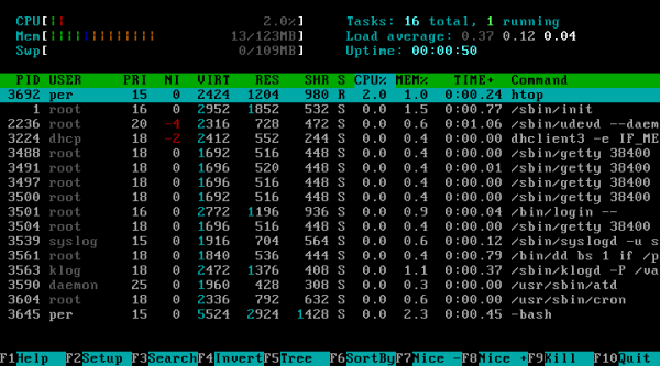 Htop - Actively Monitoring System Resources